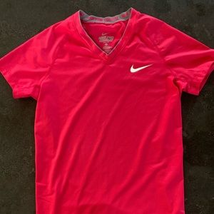 Nike Pro Combat Dri-Fit Fitted V-Neck Shirt